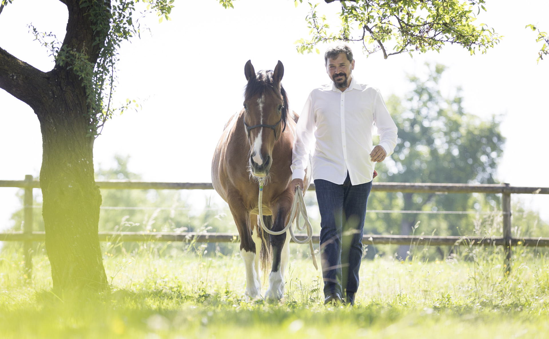 Uttwil, St. Gallen, Schweiz, 27. Mai 2017 -Gaby und Martin Mueller, Savvy Ranch, Pferde, Western.